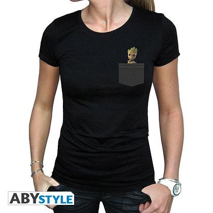 Marvel-tshirt-pocket-groot-femme-mc-black