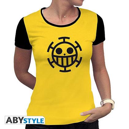 One-piece-tshirt-trafalgar-law-femme-mc-jaune