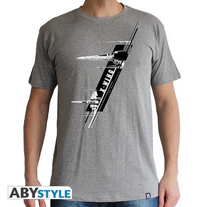 Star-wars-tshirt-x-wing-resistance-homme-mc-sport-grey-basic