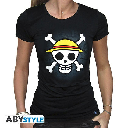 One-piece-tshirt-skull-with-map-femme-