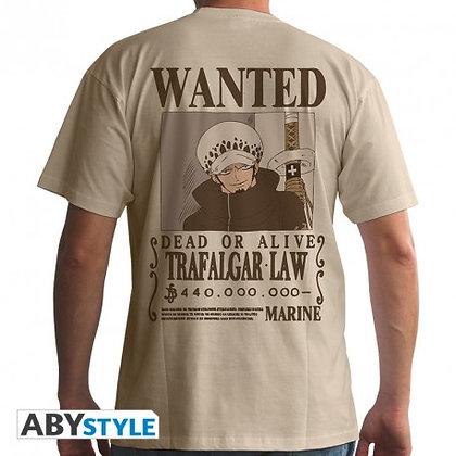 One-piece-tshirt-wanted-trafalgar-law-homme