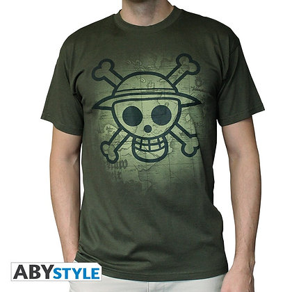 One-piece-tshirt-skull-with-map-homme