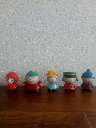 Lot de statuettes résines artisanales South Park , sculpteur anonyme.