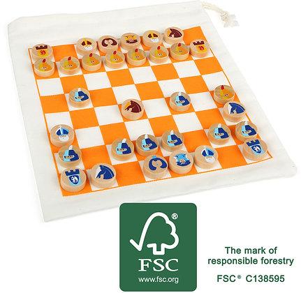 Jeu d'échecs et dames de voyage