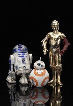SW Episode 7 Pack de 3 Droides ARTFX+ Statue Kotobukiya BB-8 / C3-PO / R2-D2