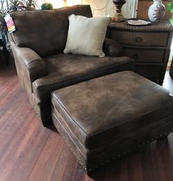 NEW Bayne Oversized Chair & Ottoma