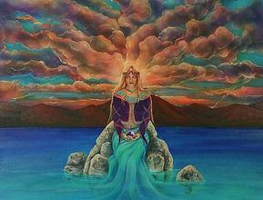 goddess sitting in meditation
