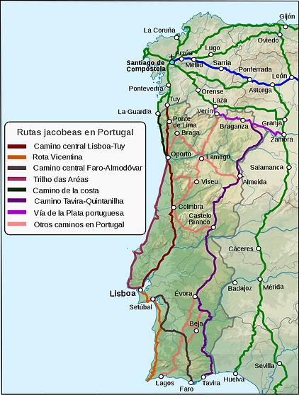 800px-Caminos_Santiago_actuales_Portugal
