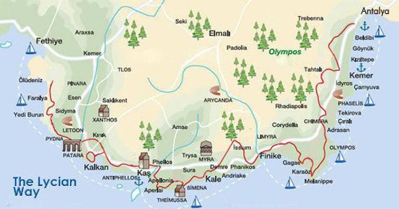 lycian way map