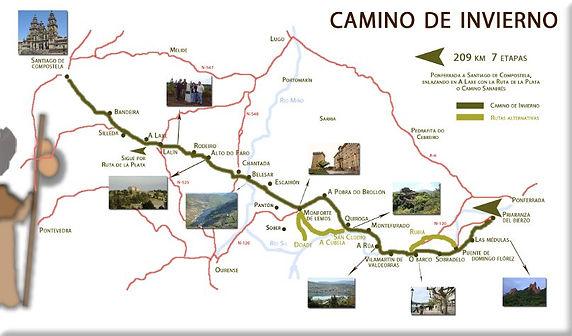 el camino de invierno galicia