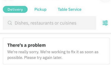 Deliveroo down across the UK
