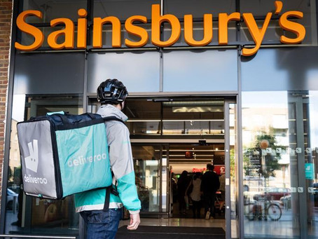 Sainsbury's partners with Uber Eats and Deliveroo