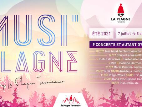 Musi'Plagne, une série de concerts cet été