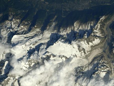 Photos du Mont Blanc depuis l'espace par Thomas Pesquet