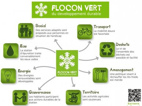 Le Maire de Bourg-Saint-Maurice reçoit le Flocon Vert pour la gestion des Arcs