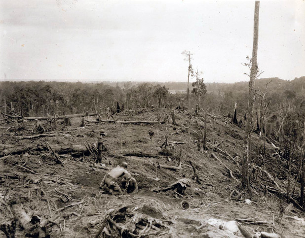 Hill 260 after bombardments to retake hill.