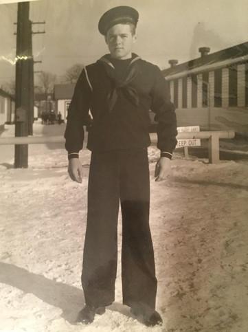 "Seaman David ""Russ"" Russell about 1940."