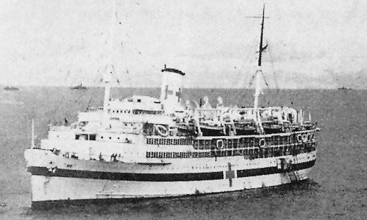 Hospital Ship U.S.S. Solace.