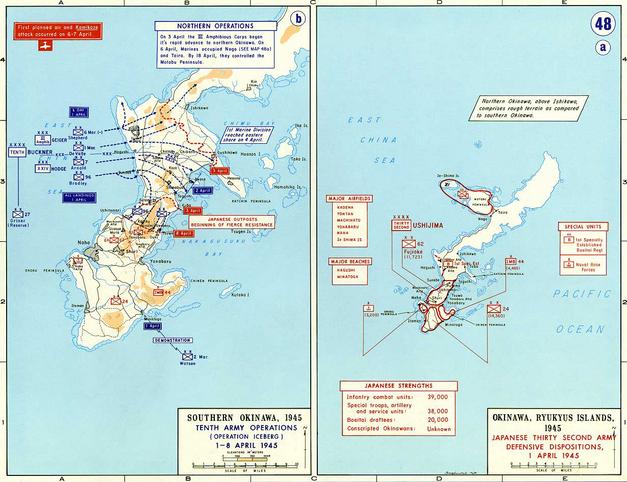 Map of Okinawa.