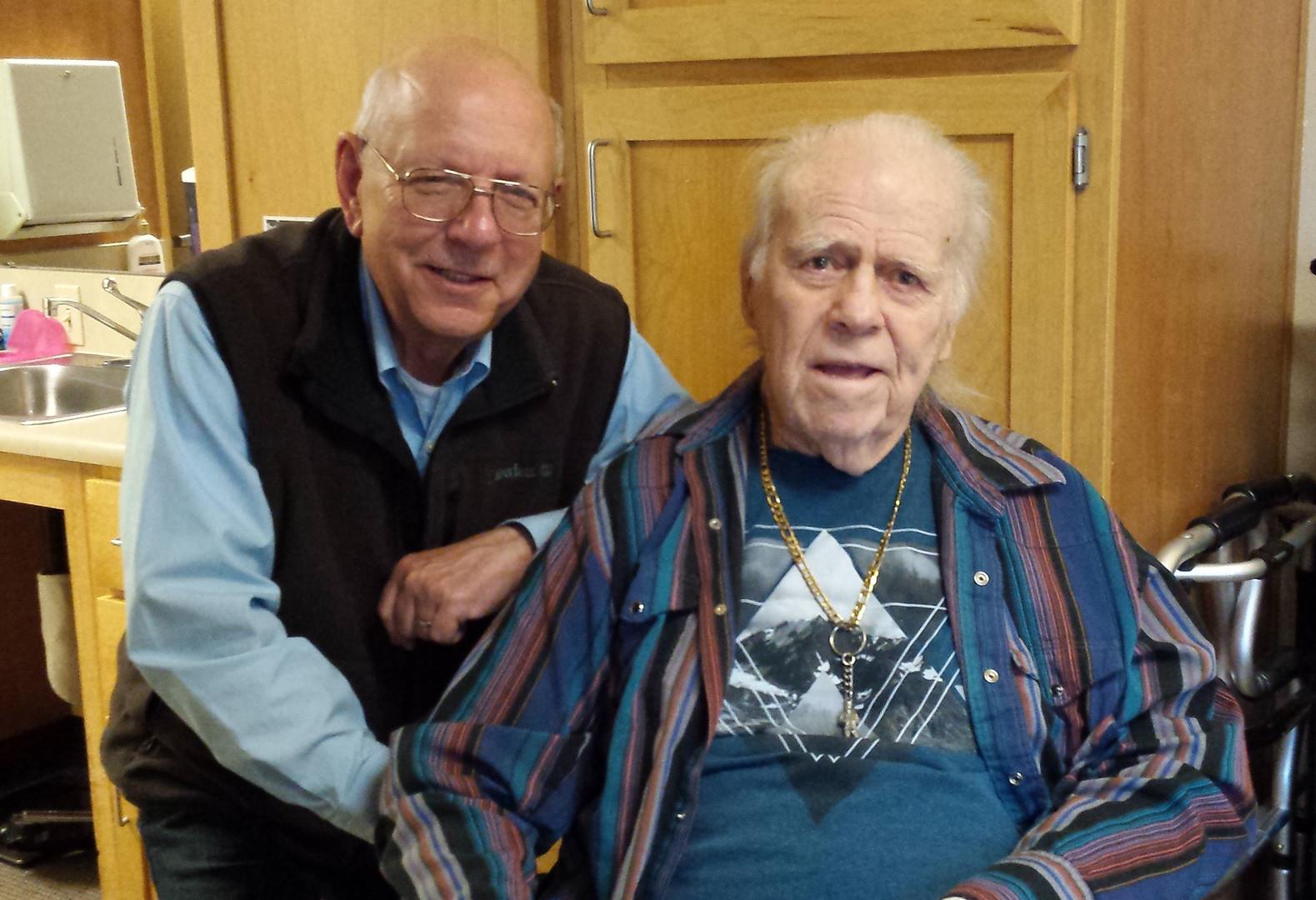 The author and Ed Johann.