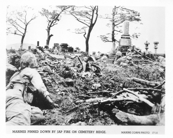 U.S. forces battle on Okinawa.