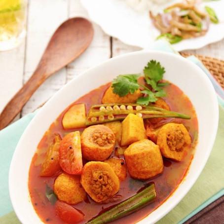 Mushroom Curry Tomato Fishball