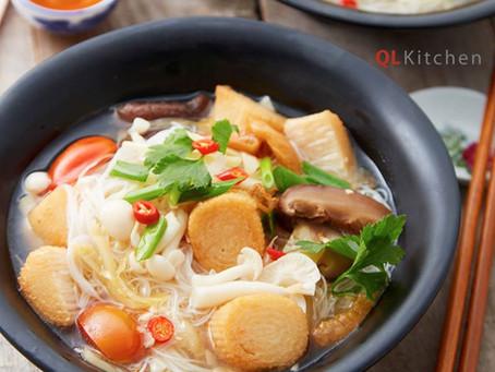 MUSHROOM QQ Fish Filament Salted Sour Plum Soup Noodles