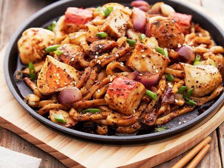 QL MUSHROOM Black Pepper Seafood Udon