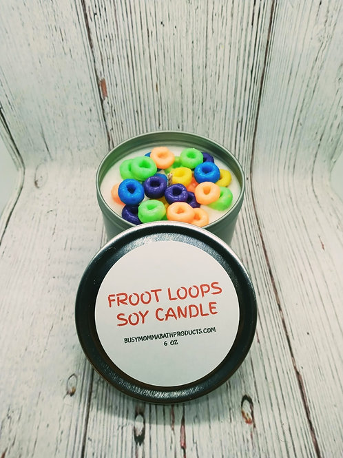 Froot loops Soy Candles