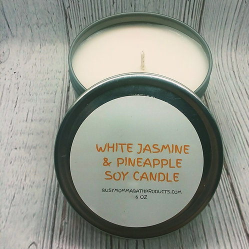 White Jasmine & Pineapple Soy Candles