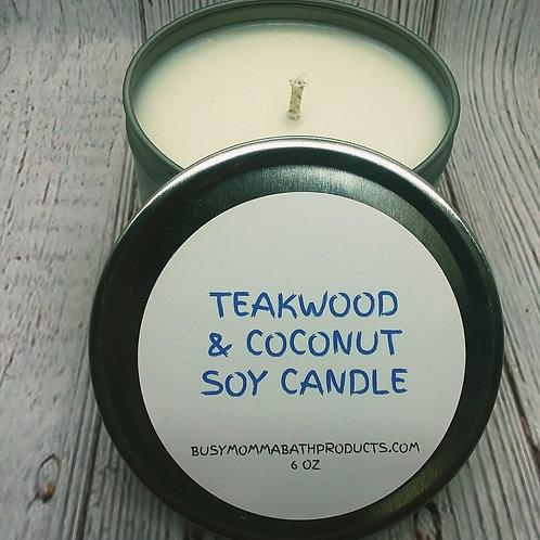 Teakwood & Coconut soy candles