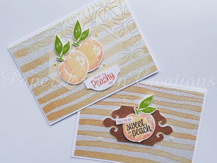 Sweet as a Peach cards on home made DSP