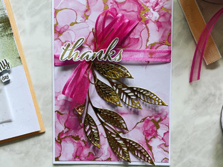 Artistically Inked and Sweet As A Peach - Growing Garden Theme inspired cards