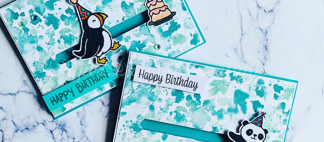Party Puffin Slider Card