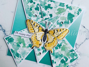 Triangle Criss Cross Butterfly Card