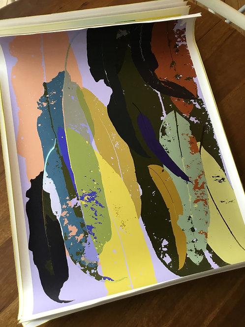 Limited Edition A1 print Print 'Eucalyptus  Lavender +Gold 2021'