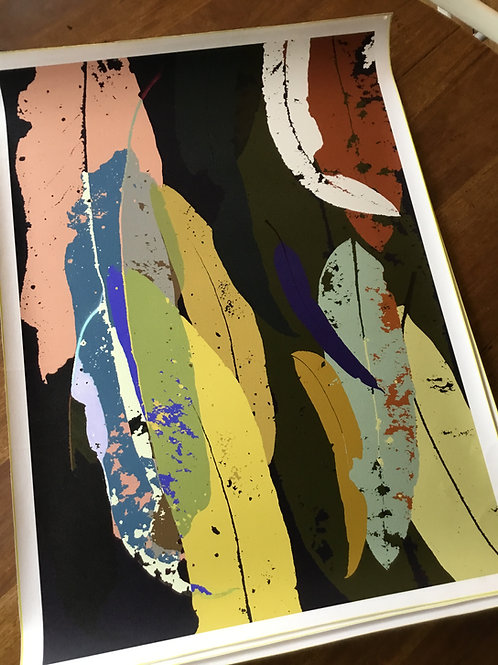 Limited Edition A1 print Print 'Eucalyptus Navy 2021'
