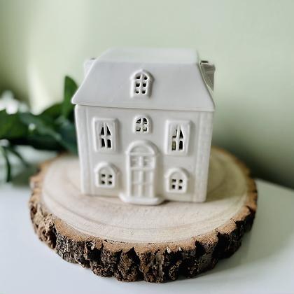 White Ceramic Wax House Burner