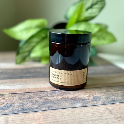Rhubarb & Ginger Amber Jar Candle