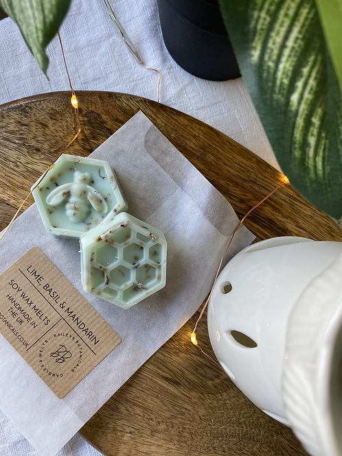 Lime, Basil & Mandarin Soy Wax Bee Melts