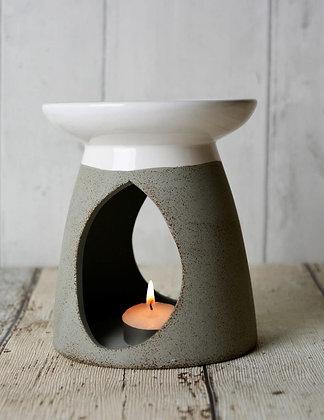 Grey/White Ceramic Burner