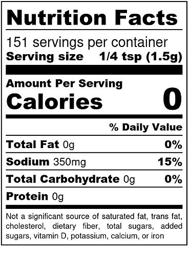 Official Spanglish Adobo - Nutrition Lab