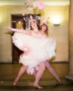 fan dance, burlesque, pride gala ball, fan dance duet, flamingo flappers, flappers, 20s, feathers,