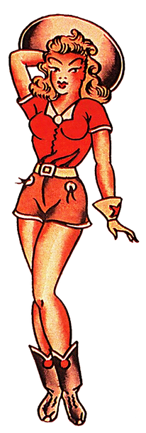 Sailor Jerry Western Pin Up