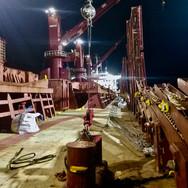 Proof test deck lashing chains on board vessel