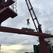 Lifting the boom into position #2
