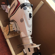 Lifeboat outboard motor supplied