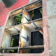 Repair to damaged deck plating