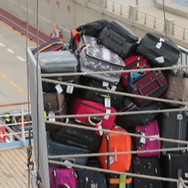 Luggage carrier in use