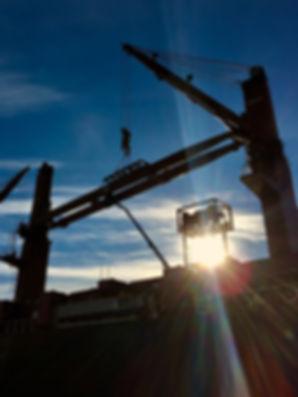 Replacement of repaired crane jib